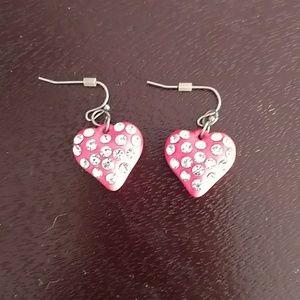 BOGO Girl's heart earrings